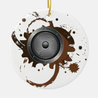 Grunge Audio Speaker 2 Ceramic Ornament