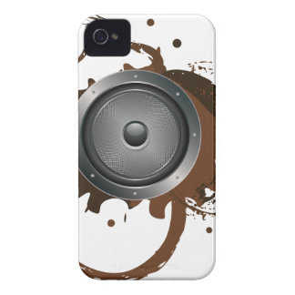 Grunge Audio Speaker 2 iPhone 4 Case-Mate Case