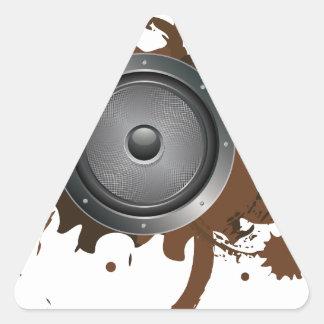 Grunge Audio Speaker 2 Triangle Sticker