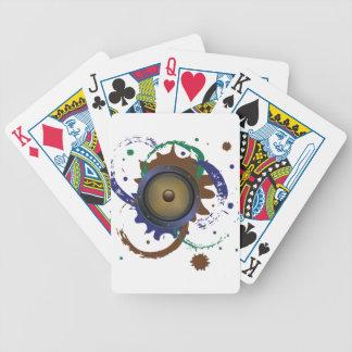 Grunge Audio Speaker 3 Bicycle Playing Cards