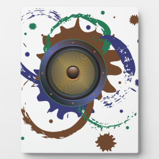 Grunge Audio Speaker 3 Plaque