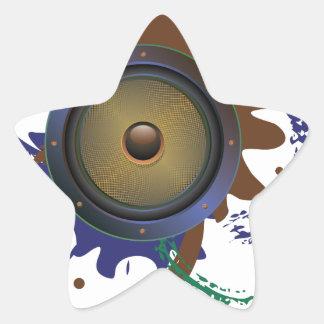 Grunge Audio Speaker 3 Star Sticker