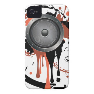Grunge Audio Speaker iPhone 4 Case-Mate Case