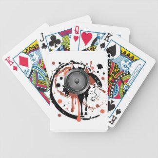 Grunge Audio Speaker Poker Deck