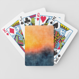 Grunge background bicycle playing cards