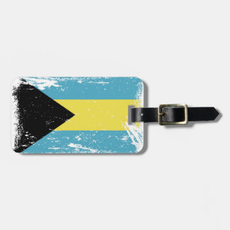 Grunge Bahamas Flag Luggage Tag