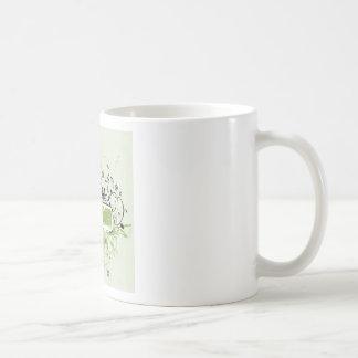 Grunge banner design coffee mugs