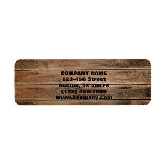 grunge barn wood  Construction Carpentry Return Address Label
