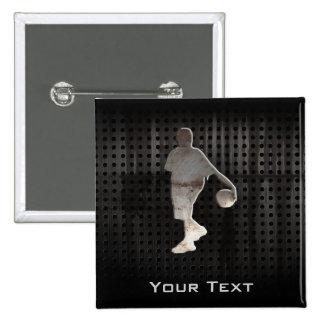 Grunge Basketball 15 Cm Square Badge