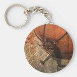 Grunge Basketball Basic Round Button Key Ring