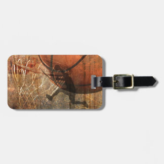 Grunge Basketball Luggage Tag