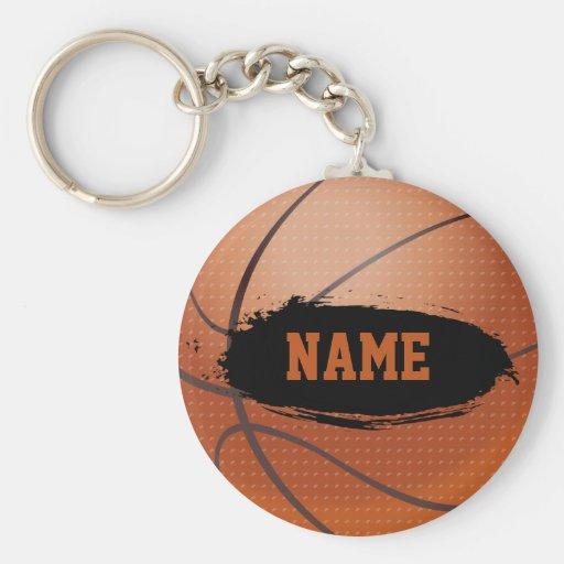 Grunge Basketball Personalized Keychain