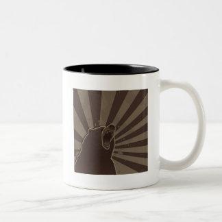 Grunge Bear Two-Tone Coffee Mug