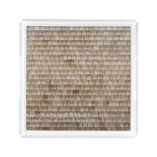 grunge beige wood wall texture acrylic tray