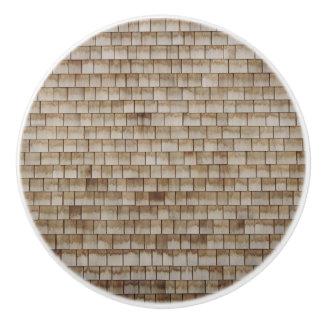 grunge beige wood wall texture ceramic knob
