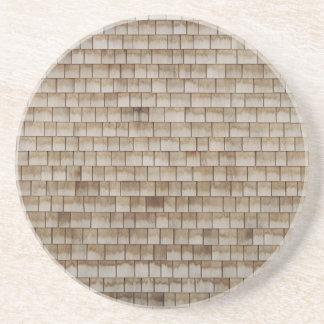 grunge beige wood wall texture coaster