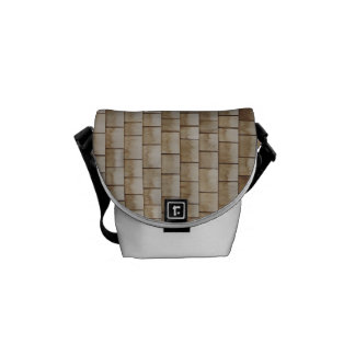grunge beige wood wall texture courier bag