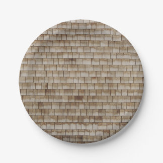 grunge beige wood wall texture paper plate