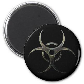 Grunge Biohazard Symbol - Magnet