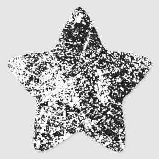 Grunge Black and White Background Star Sticker