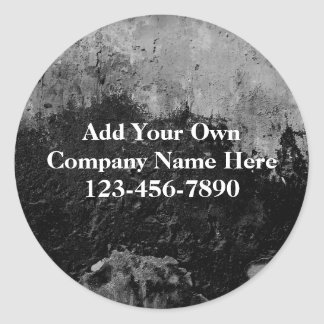 Grunge Black Paint Faux Finish Design Classic Round Sticker