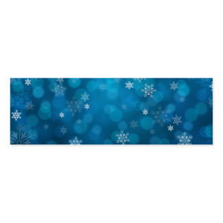 grunge blue snow abstract pattern Double-Sided mini business cards (Pack of 20)
