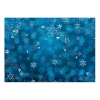 grunge blue snow abstract pattern pack of chubby business cards