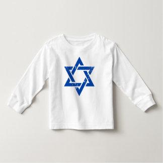 Grunge Blue Star of David Toddler T-Shirt