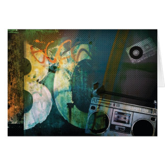 Grunge Boombox Card