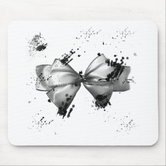 Grunge Bow Mouse Pad
