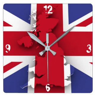 Grunge Britain Wall Clock