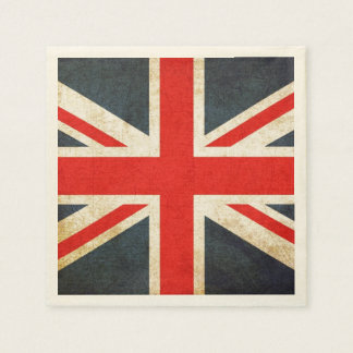 Grunge British Union Jack Posh Paper Napkins