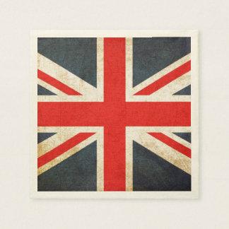 Grunge British Union Jack Posh Paper Napkins Paper Napkin