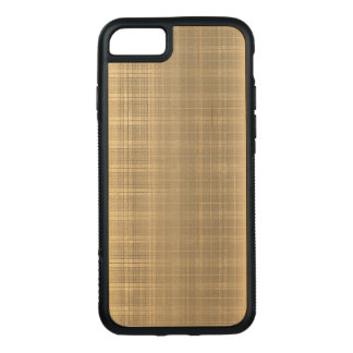 Grunge Brown Tartan Plaid 90s style Carved iPhone 8/7 Case