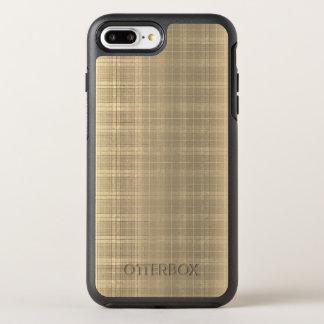 Grunge Brown Tartan Plaid 90s style OtterBox Symmetry iPhone 8 Plus/7 Plus Case
