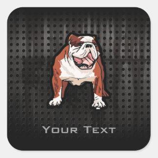Grunge Bulldog Stickers
