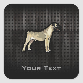 Grunge Bullmastiff Stickers