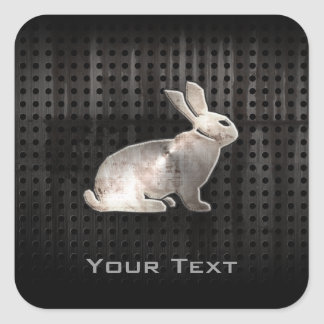 Grunge Bunny Square Sticker