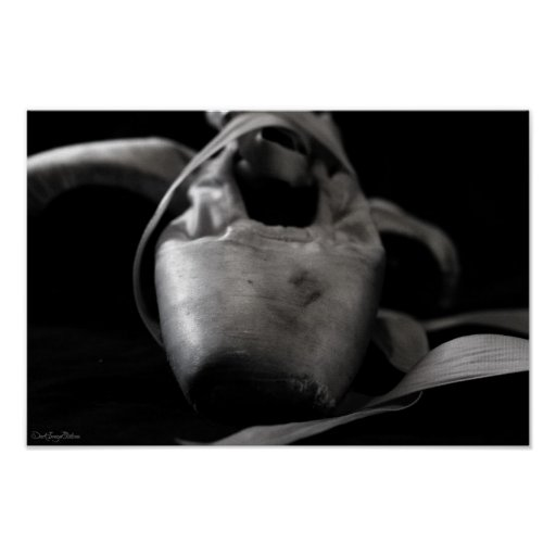 Grunge BW Pointe (Ballet) Shoes Posters
