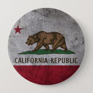 Grunge California Flag 10 Cm Round Badge