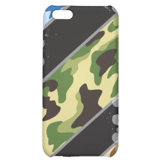 Grunge Camo Stripes Case For iPhone 5C