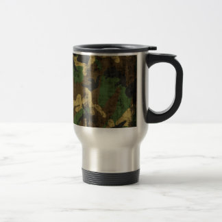Grunge Camouflage Pattern Print Travel Mug