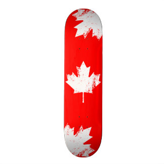 Grunge Canada Flag Maple - White Distorted 20.6 Cm Skateboard Deck