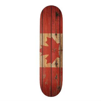 Grunge Canada Flag Custom Skateboard