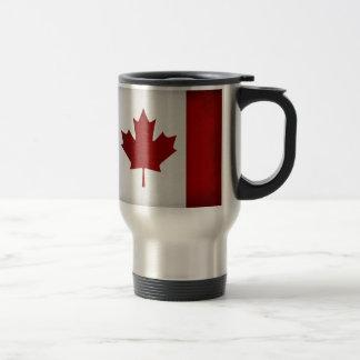 Grunge Canadian Flag Stainless Steel Travel Mug