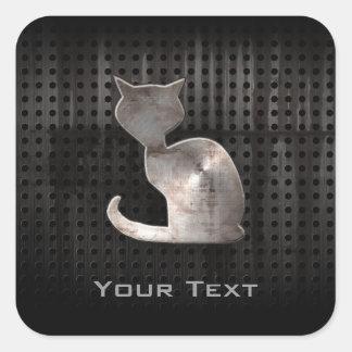 Grunge Cat Square Sticker