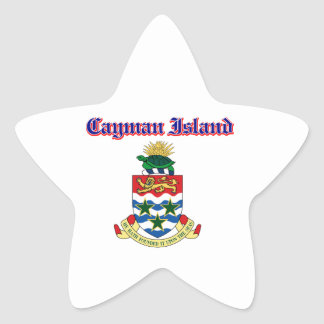 Grunge Cayman Islands coat of arms designs Sticker