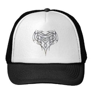 Grunge Celtic Heart Knot Hats