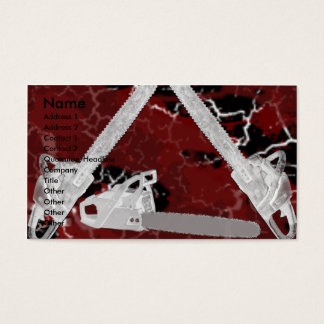 GRUNGE CHAINSAWS AND BLOOD! BUSINESS CARD