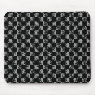 grunge checkers mouse pad